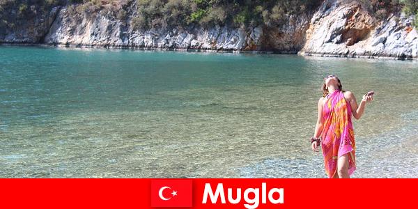 Pantai liburan di Mugla, salah satu ibukota Turki Provinsi terkecil