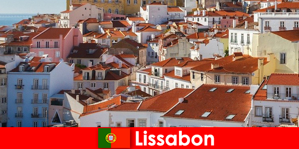 Lisbon kota pesisir tujuan utama dengan matahari pantai dan makanan lezat