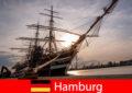 Jerman Turun di pelabuhan Hamburg ke pasar ikan untuk perjalanan gourmets